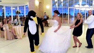 """""""رقصة البطريق"""" تنتشر في حفلات الزفاف حول العالم"""
