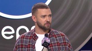 "Justin Timberlake on Super Bowl ""bromance"" with Tom Brady"