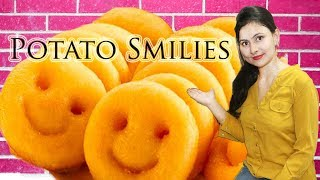 potato smiley recipe | cheese potato smiley recipe | tea-time snacks recipe :)
