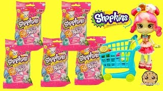 5 Shopkins Season 3 Collector Card Packs with Surprise Blind Bag with Donatina - Cookieswirlc