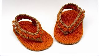 DIY crochet sandals flip flops//Vasilisa