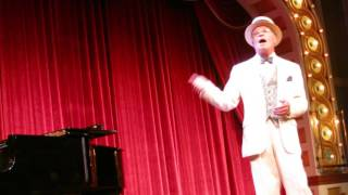 Steve Spracklen plays ragtime piano aboard the American Queen Steamboat
