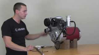 EV West Electric Motor Accessory Plate Installation Video - Power Steering, Vacuum, AC Compressor