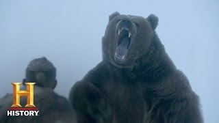 Vikings: Bjorn Picks a Fight with a Bear (Season 4) | History
