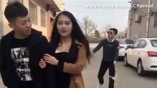 Funny Korean videos funny pranks  try not to laugh challenge