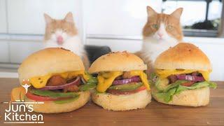 Homemade Vegan Burger