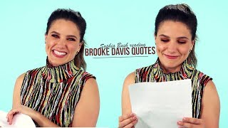 [OTH] Sophia reading Brooke Davis Quotes ! ♡