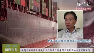 彭楷:没有自由的香港还是东方之珠吗?香港独立关税区地位会被取消吗?
