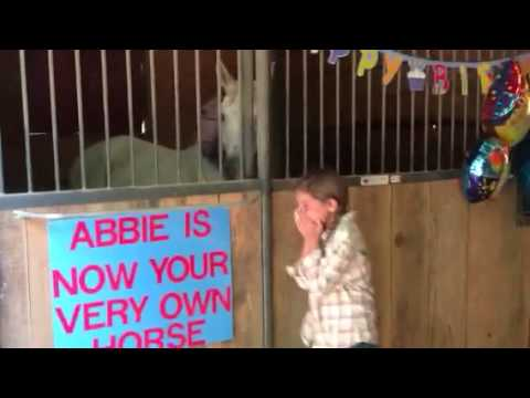 Horse surprise for MaKayla and Taylor
