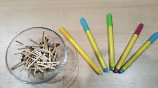 Hold the matchsticks (kitty party fun game )😊