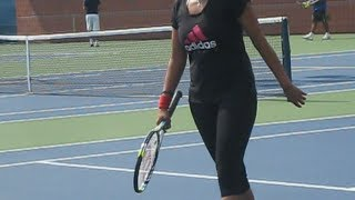 Sania Mirza's practice at the 2012 US Open