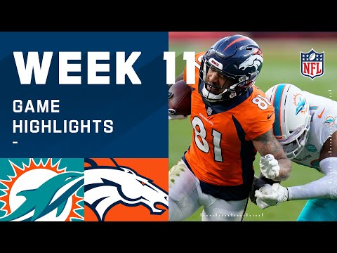 Dolphins vs. Broncos Week 11 Highlights NFL 2020