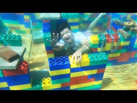 I Built a GIANT Underwater LEGO Maze Challenge