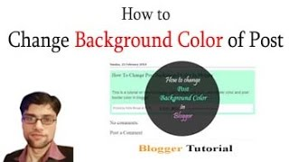 How to Change Background Color of Blogger Post
