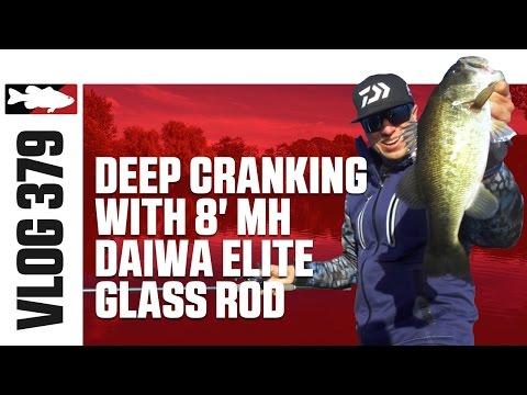 Brent Ehrler Deep Cranking with Daiwa's  Elite Glass Crank Rod on San Vicente - TW VLOG #379
