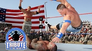 John Cena, Batista & Rey Mysterio vs. Randy Orton & Jeri-Show: Tribute to the Troops, Dec. 20, 2008