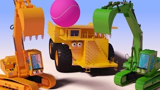 VIDS for KIDS in 3d (HD) - Excavator, Digger Ball Funny Cartoon for Children - AApV
