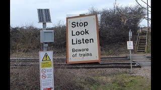 TALKING Railway footpath crossing warning unit