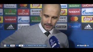 Monaco 3 Man City 1 (6-6) Pep Guardiola - Post Match Interview