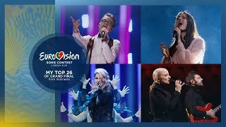 Eurovision 2018: My Top 26 (Grand Final)