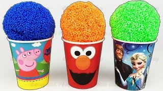 Play Foam Ice Cream Surprise Eggs Peppa Pig Elmo Disney Finding Dory Play Doh Learn Colors & Numbers