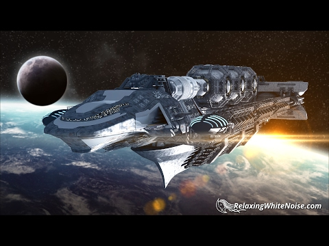 Spaceship White Noise | Sleep or Study | 10 Hours Soothing Ambience