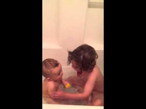 Cousins first bath