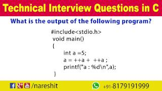Modify Operators | C Technical Interview Questions and Answers | Mr. Srinivas