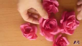 Super Easy Way to Make A ' Real Rose ' From Paper Tutorial