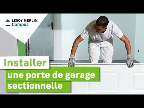 Automatic center pr sente le montage d 39 une porte de garage sectionnelle h - Leroy merlin porte de garage sectionnelle ...