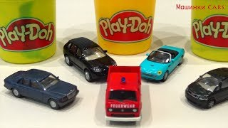 Learn colors for kids with Play Doh end Cars Feuerwehr / Educational video for Children Babies 玩具