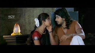 Nannavanu Kannada Movie - Prajwal fight with people for stealing Shivalinga | Kannada Best Scenes