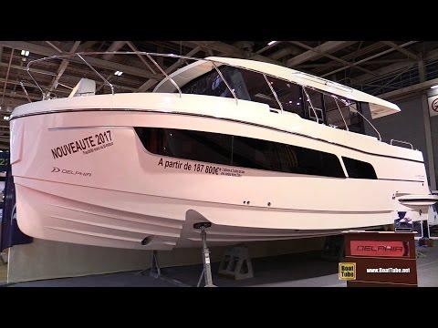 2017 Delphia Escape 1150 V Motor Yacht Deck and Interior Walkaround 2016 Salon Nautique Paris
