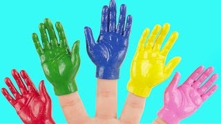 Learn Colors Superhero Finger Family Nursery Rhymes Body Paint Hulk Spider man Egg Crayons PJ Masks