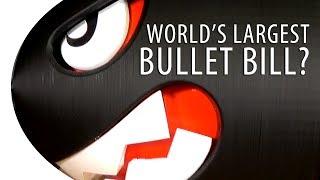 World's Largest 3D Printed Bullet Bill / Banzai Bill from Nintendo Super Mario Bros?