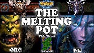 Grubby | Warcraft 3 TFT | 1.29 | ORC v NE on Plunder Island - The Melting Pot
