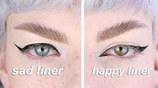 how i do my eyeliner  ( ͡° ͜ʖ ͡°)  *hooded eyes*