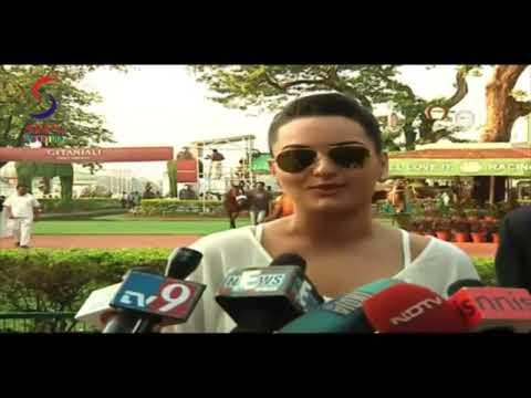 Gorgeous Sonakshi Sinha in Tight White Short Dress at Gitanjali Race