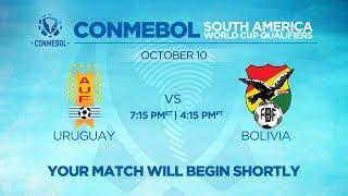 LIVE CONMEBOL WCQ: Uruguay vs. Bolivia