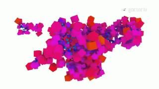 Blender 3D software - Particle spread based audio test 2