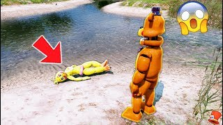 ROCKSTAR FREDDY FOUND TOY CHICA IN THE SWAMP! (GTA 5 Mods For Kids FNAF RedHatter)