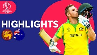 Sri Lanka vs Australia - Match Highlights | ICC Cricket World Cup 2019