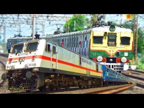WAP-7-30308/Agniveena Express/Howrah-Barddhaman Local (via Main)