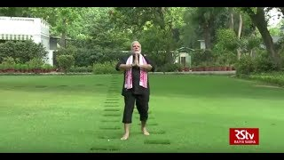 PM Modi posts fitness video of his morning exercise & yoga