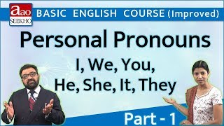 Personal Pronouns - 1 (I, We, You, He, She, It, They) - Basic English (Improved) - Video 23