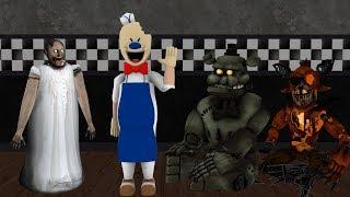 [SFM GRANNY ] Granny vs Ice Scream vs Dread Bear Vs Grimm Foxy Funny Horror Game Animation part 1