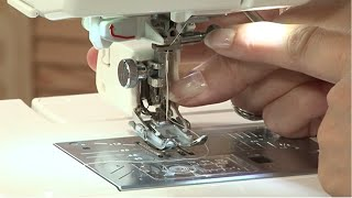 How to fit the walking foot to your sewing machine