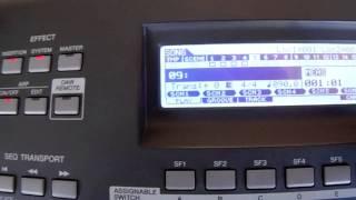 Fazendo divisão dos timbres modo song - par 2- Mox6