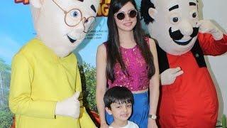 Divya Khosla Kumar with her son At Motu Patlu Movie Special Screening