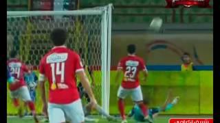 شريف إكرامي ينقذ مرمى الأهلي من فرصة خطيرة في نهاية مباراة بتروجت والأهلي